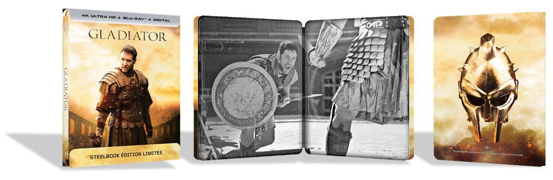 aujourd 39 hui sortie du film gladiator en steelbook 4k ultra hd 02 05 2018. Black Bedroom Furniture Sets. Home Design Ideas